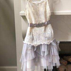 Formal ivory lace dress